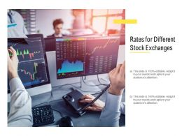 Rates For Different Stock Exchanges