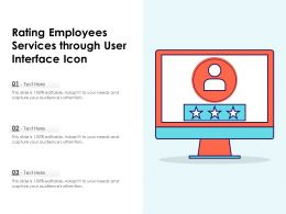 Rating Employees Services Through User Interface Icon