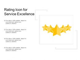 Rating Icon For Service Excellence