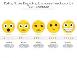 Rating Scale Depicting Employee Feedback By Team Manager Infographic Template