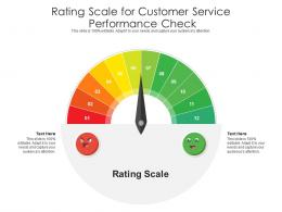 Rating Scale For Customer Service Infographic Template
