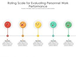 Rating Scale For Evaluating Personnel Work Performance Infographic Template