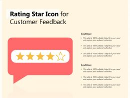 Rating Star Icon For Customer Feedback