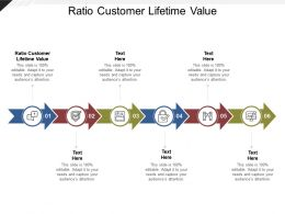 Ratio Customer Lifetime Value Ppt Powerpoint Presentation Inspiration Icon Cpb