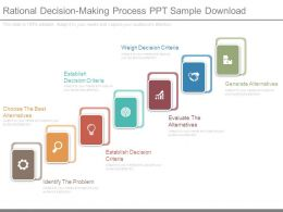 Rational Decision Making Process Ppt Sample Download