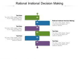 Rational Irrational Decision Making Ppt Powerpoint Presentation Ideas Example Cpb