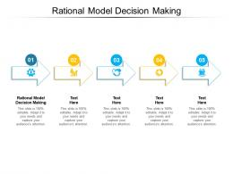 Rational Model Decision Making Ppt Powerpoint Presentation Outline Show Cpb