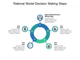 Rational Model Decision Making Steps Ppt Powerpoint Presentation Example Cpb