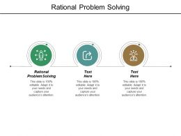 Rational Problem Solving Ppt Powerpoint Presentation File Formats Cpb