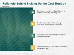 Rationale Behind Picking Up The Cost Strategy Ppt Powerpoint Presentation