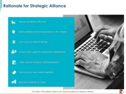 Rationale For Strategic Alliance Lower Risks Ppt Powerpoint Presentation Outline Examples