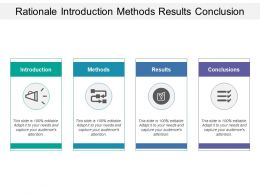 Rationale Introduction Methods Results Conclusion