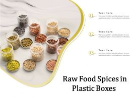 Raw Food Spices In Plastic Boxes