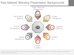 Raw Material Blending Presentation Backgrounds