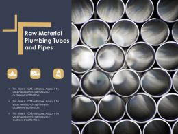 Raw Material Plumbing Tubes And Pipes
