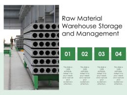 Raw Material Warehouse Storage And Management
