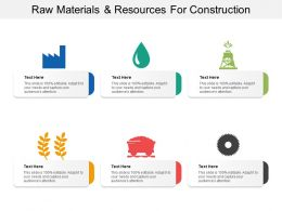 Raw Materials And Resources For Construction