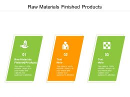 Raw Materials Finished Products Ppt Powerpoint Presentation Ideas Smartart Cpb
