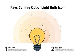 Rays Coming Out Of Light Bulb Icon