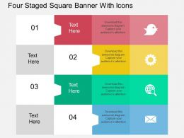 Rb Four Staged Square Banner With Icons Flat Powerpoint Design