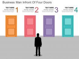 rc_business_man_infront_of_four_doors_flat_powerpoint_design_Slide01