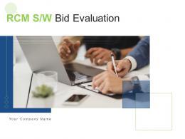 RCM S W Bid Evaluation Powerpoint Presentation Slides