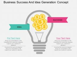 re Business Success And Idea Generation Concept Flat Powerpoint Design