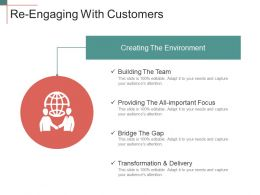 Re Engaging With Customers Ppt Templates