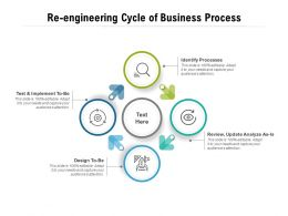 Re Engineering Cycle Of Business Process