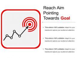 Reach Aim Pointing Towards Goal