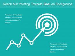 Reach Aim Pointing Towards Goal On Background