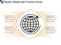 Reach Globe With Pointer Arrow