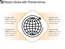 Reach Globe With Pointer Arrow