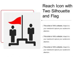 Reach Icon With Two Silhouette And Flag