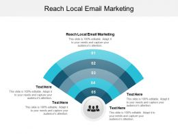 Reach Local Email Marketing Ppt Powerpoint Presentation Inspiration Microsoft Cpb