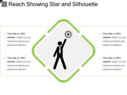 Reach Showing Star And Silhouette
