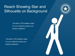 Reach Showing Star And Silhouette On Background