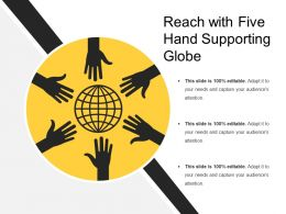 Reach With Five Hand Supporting Globe