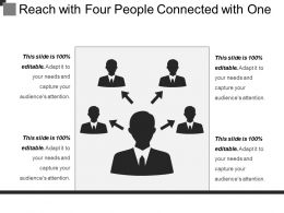 Reach With Four People Connected With One