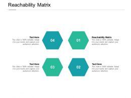 Reachability Matrix Ppt Powerpoint Presentation Model Guidelines Cpb