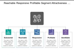 Reachable Responsive Profitable Segment Attractiveness With Icons And Boxes