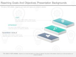 Reaching Goals And Objectives Presentation Backgrounds