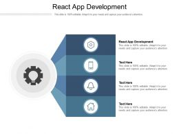 React App Development Ppt Powerpoint Presentation Model Microsoft Cpb