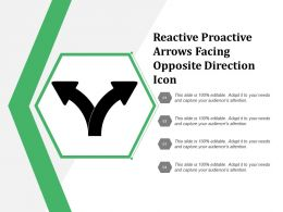 Reactive Proactive Arrows Facing Opposite Direction Icon
