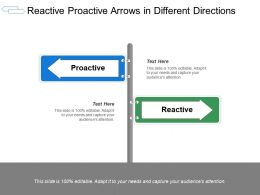Reactive Proactive Arrows In Different Directions
