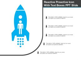 Reactive Proactive Icon With Text Boxes Ppt Slide