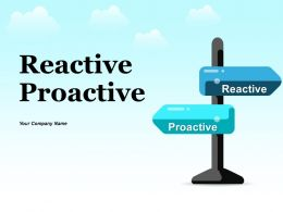Reactive Proactive Table Showing Attributes Comparison Direction Icon Attribute