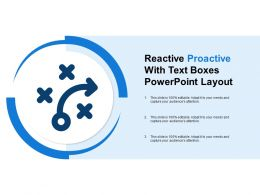 Reactive Proactive With Text Boxes Powerpoint Layout