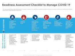 Readiness Assessment Checklist To Manage Covid 19 Ppt File Formats