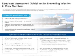 Readiness Assessment Guidelines For Preventing Infection In Crew Members Ppt Ideas